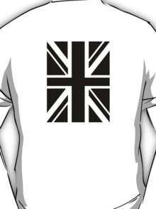 BRITISH, UNION JACK FLAG, UK, UNITED KINGDOM IN BLACK T-Shirt