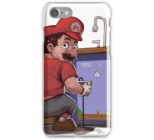 Mario Fixing the Pipes iPhone Case/Skin