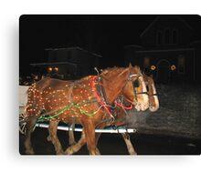 Christmas Horses Canvas Print