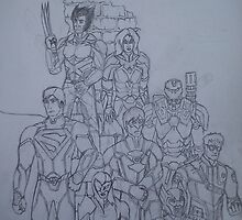 Justice 2 B&W by Daniel Almeida