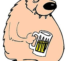 Bear Drinking Beer by kwg2200