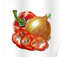Bell Pepper And Onion Poster