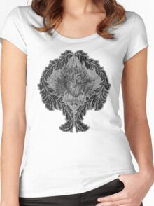 the tell tale heart : black ink edition Women's Fitted Scoop T-Shirt