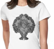 the tell tale heart : black ink edition Womens Fitted T-Shirt