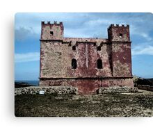Red tower - water paint effect Canvas Print