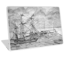 Sailing Ship off Castle Cornet in Guernsey - all products Laptop Skin