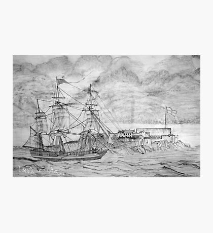Sailing Ship off Castle Cornet in Guernsey Photographic Print