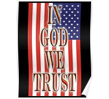 America, In God we trust, USA, American, official motto, flag Poster