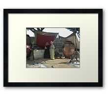 From the past (2 of 4) - The gossip Framed Print