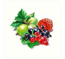 Very Very Berry  Art Print
