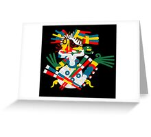 Aztec eagle and snake V2 Greeting Card