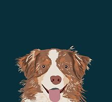 Hollis - Australian Shepherd gifts for dog lovers dog owner gifts and perfect gift for dog person by PetFriendly