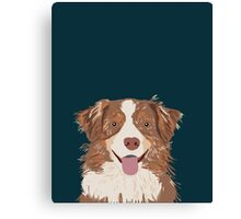 Hollis - Australian Shepherd gifts for dog lovers dog owner gifts and perfect gift for dog person Canvas Print