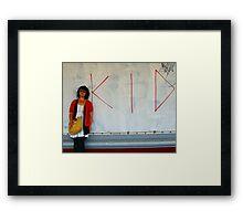 the kid Framed Print