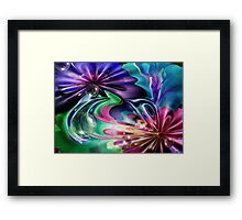 Just Colours and Bubbles Framed Print