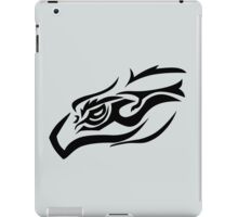 Tribal eagle on gray iPad Case/Skin