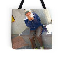 Ray busking Tote Bag