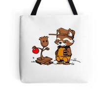 A Groovy Racoon Christmas Tote Bag