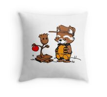 A Groovy Racoon Christmas Throw Pillow