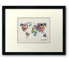 a beautiful world Framed Print