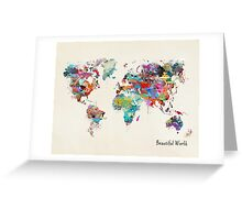 a beautiful world Greeting Card