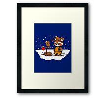 A Groovy Racoon Christmas Framed Print