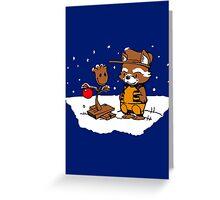 A Groovy Racoon Christmas Greeting Card