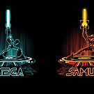 MEGA & SAMTRON (2-sided mug) by DJKopet