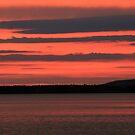sunrise in copper harbor, michigan by Lynne Prestebak