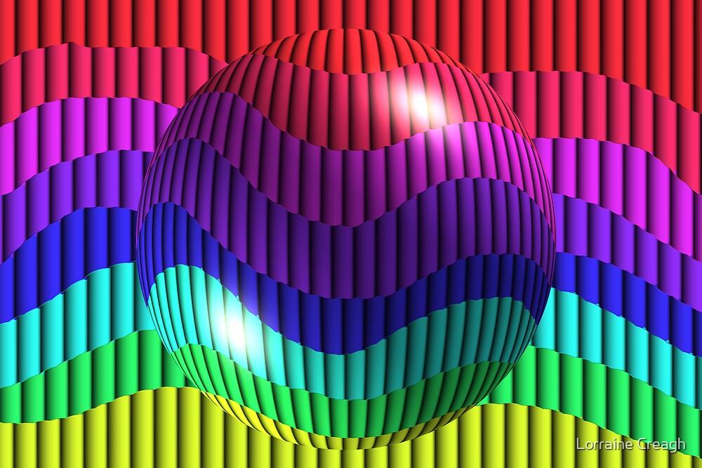 Rainbow Abstract by Lorraine Creagh