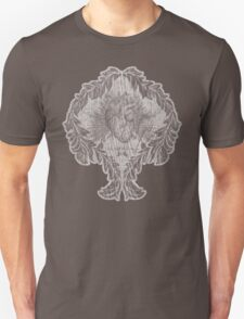 the tell tale heart : white ink edition T-Shirt