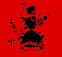 Vivid red & Black - Christmas by Silver Winter
