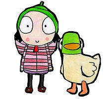 sarah and duck by JaymieBatchelor