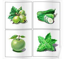 Green Vitamins Poster