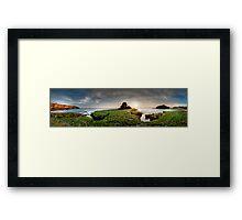 Green Rock Shelf Pan Framed Print