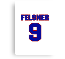 National Hockey player Denny Felsner jersey 9 Canvas Print