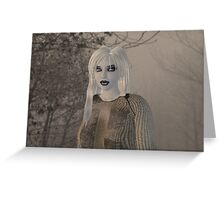Violet Eyes Greeting Card