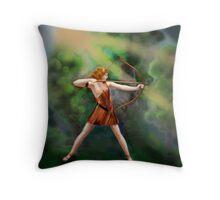 Diana,  the Goddess Throw Pillow