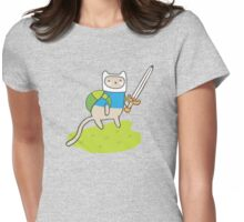 Adventure Kitty Womens Fitted T-Shirt