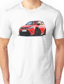 Ford Focus RS (Mk2) Red [Black Wheels] Unisex T-Shirt