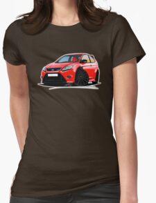 Ford Focus RS (Mk2) Red [Black Wheels] Womens T-Shirt