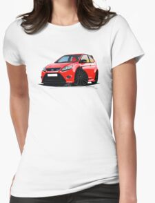 Ford Focus RS (Mk2) Red [Black Wheels] Womens Fitted T-Shirt