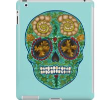 Winter skull, holly king- turquoise iPad Case/Skin