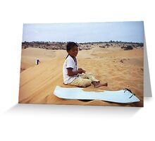 Little Sand Dune Lady Greeting Card