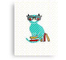Smart Kitty Metal Print
