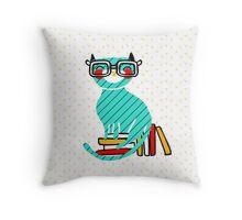 Smart Kitty Throw Pillow