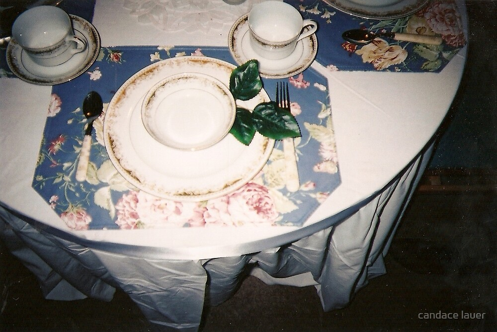 pretty tea party by candace lauer