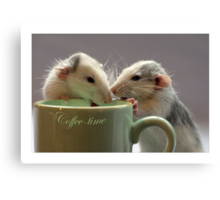 Coffee together :) Canvas Print