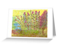 pink and blue fusion - angel Greeting Card