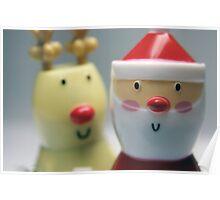 Santa & Rudolph Poster